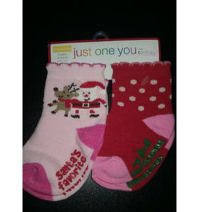 Carter's Just One You Christmas 6-12 Months Socks